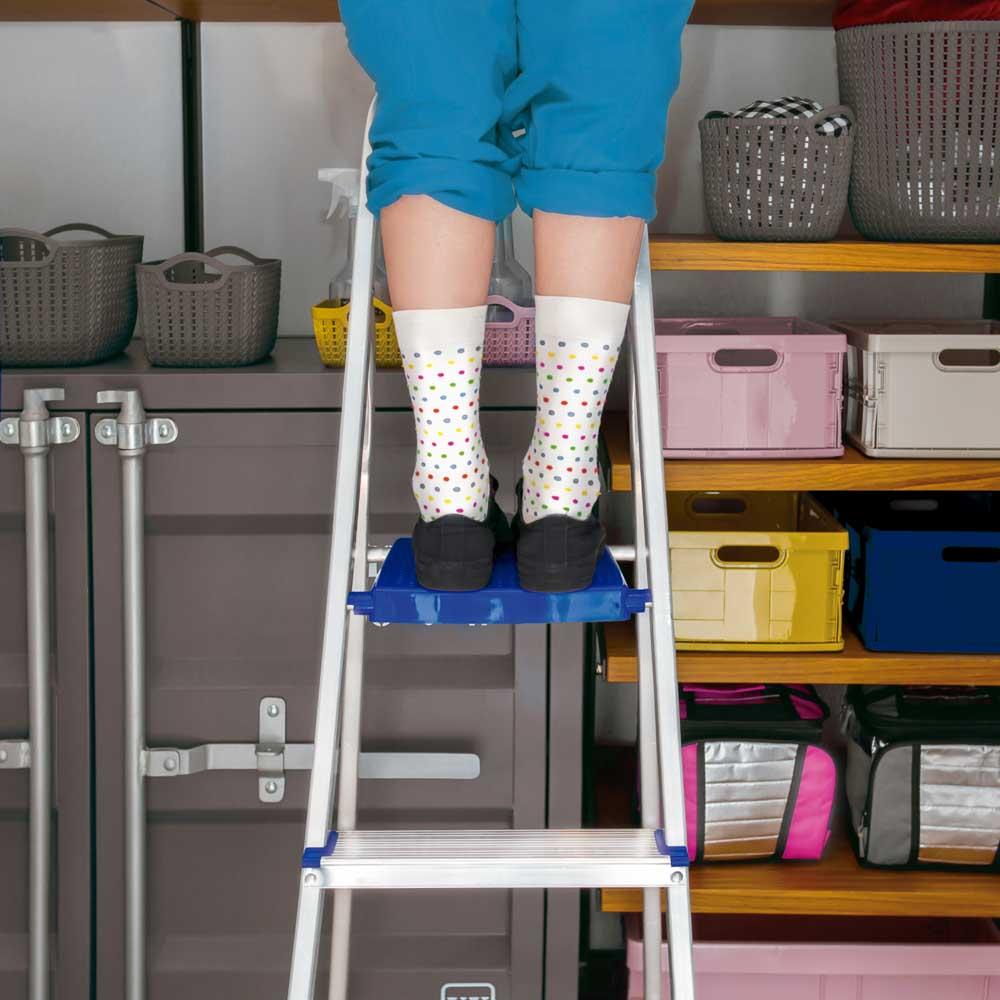 Escada De Alumínio Pequena 3 Degraus Dobrável Para Casa Mor