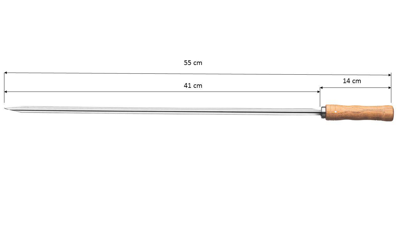 Espetos De Aço Inox 55cm Para Churrasco Tramontina