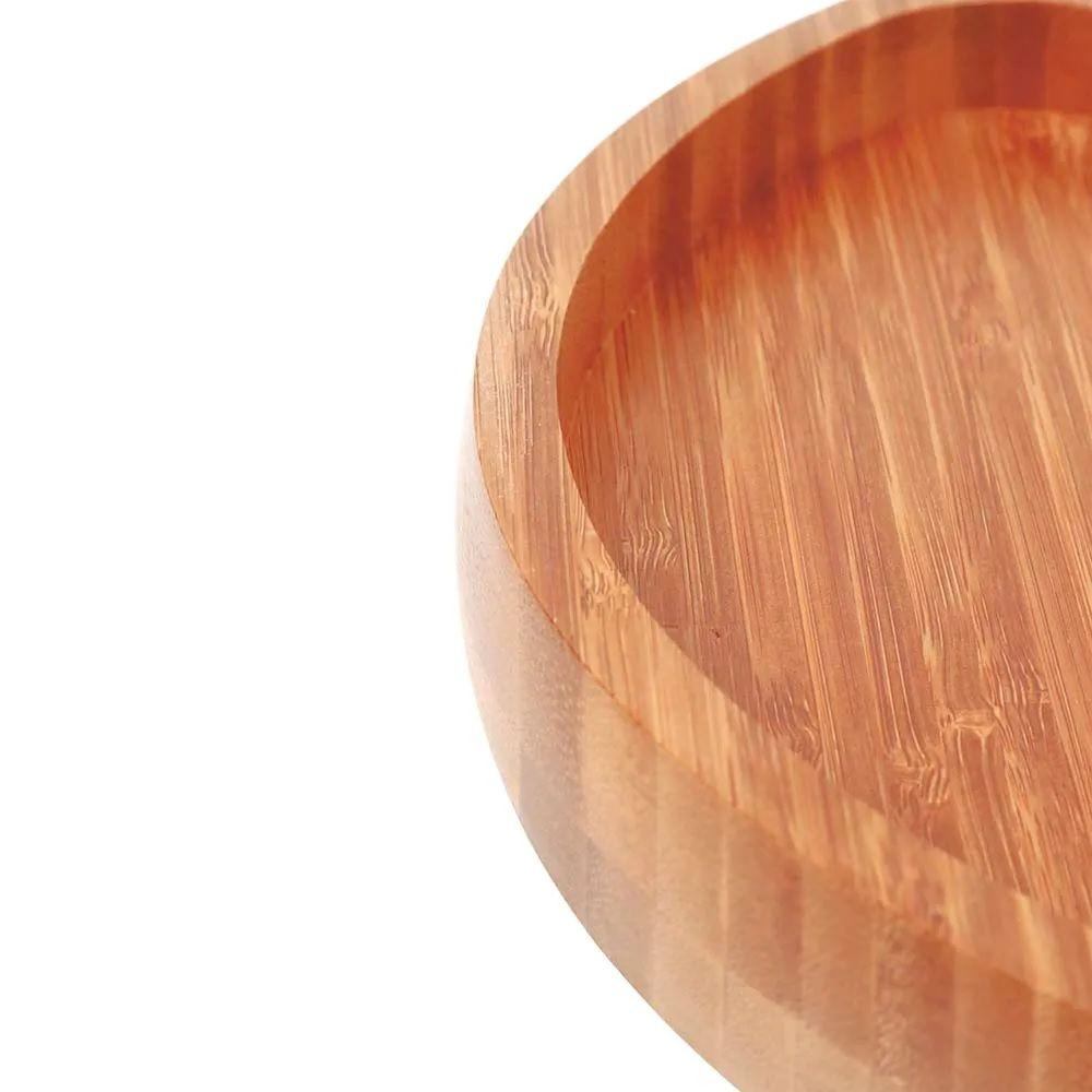 Gamela Multiuso Para Churrasco Com 2 Divisórias Bamboo