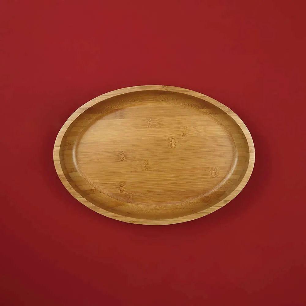 Gamela Oval Bamboo 33x23 Para Churrasco
