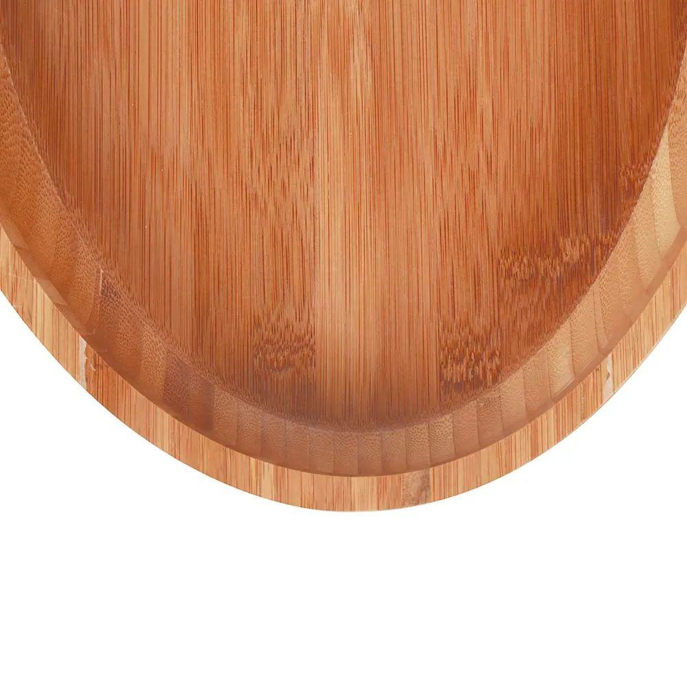 Gamela Oval Bamboo 41x27 cm Para Churrasco
