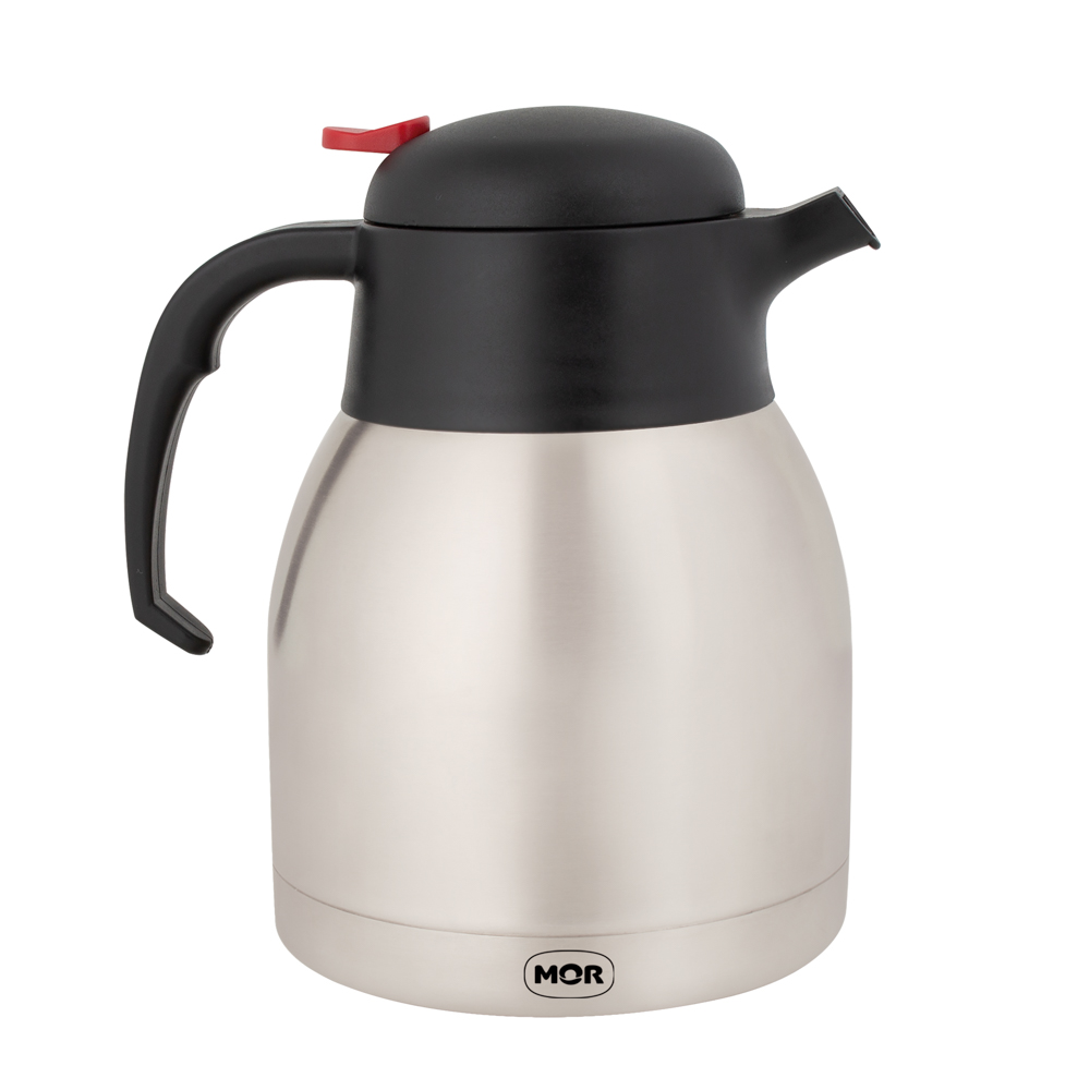 Garrafa Térmica De Cafe Bule Aço Inox 1,2l Com Gatilho Mor