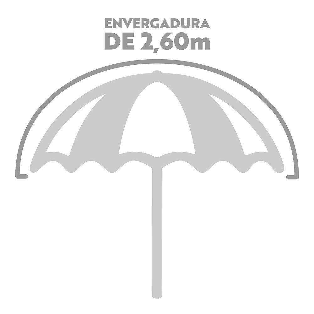 Guarda-sol 2,60m Grande Alumínio Praia Piscina Ombrelone