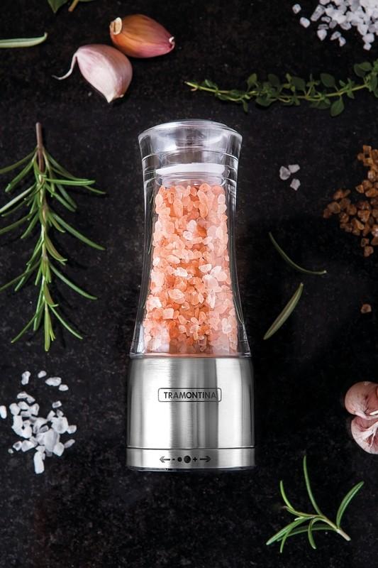 Moedor para Sal ou Pimenta em Acrílico e Aço Inox com Moinho em Cerâmica Tramontina