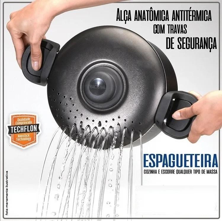 Panela De Macarrão Espagueteira Antiaderente 2 Litros