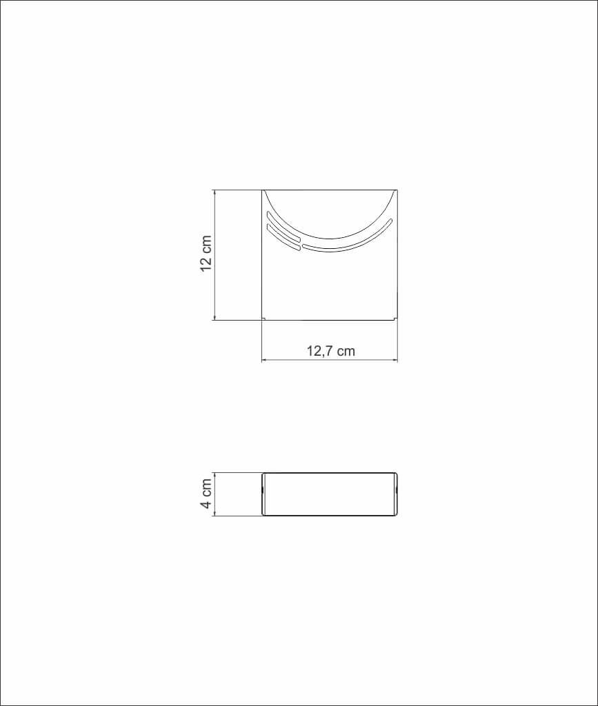 Porta Guardanapo Inox Papel Pano Para Mesa Apartamento Tramontina C1251