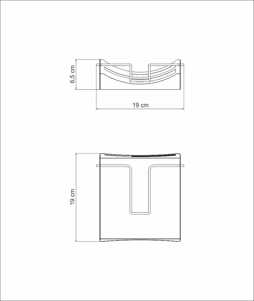 Porta Guardanapo Papel Pano P/ Cozinha Inox Tramontina C5227