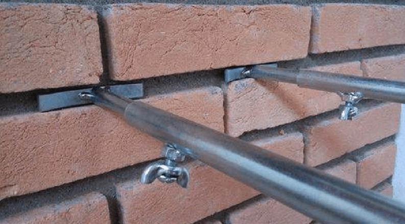 Suporte extensor de grelha ajustavel para churrasqueira de alvenaria 40-70 cm