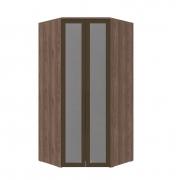 Armário Modulado Evolution Canto Closet 2 portas com gavetas cabideiro e calceiro Com Espelho Reflecta Robel Móveis - Capuccino