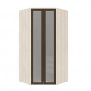 Armário Modulado Evolution Canto Closet 2 portas com gavetas cabideiro e calceiro Com Espelho Reflecta Robel Móveis - Vanilla