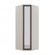 Armário Modulado Evolution Canto Oblíquo 1 porta Com Espelho Reflecta com cabideiro Robel Móveis - Vanilla