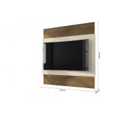 Painel Para TV Bélgica Freijó / Off White  RV Móveis