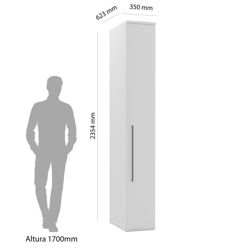 Armário Modulado Evolution 1 Porta Com Prateleira 35cm  Robel Móveis