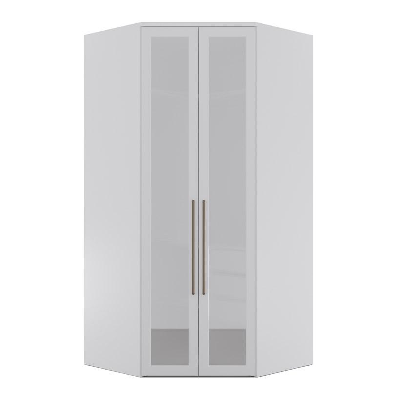 Armário Modulado Evolution Canto Closet 2 portas com gavetas cabideiro e calceiro Com Espelho Reflecta Robel Móveis