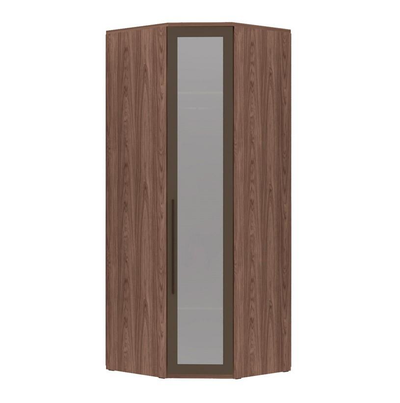 Armário Modulado Evolution Canto Oblíquo 1 porta Com Espelho Reflecta com cabideiro Robel Móveis