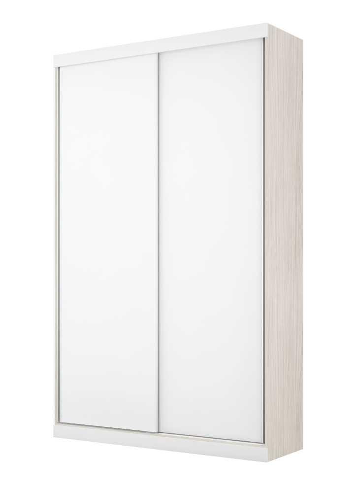Armário Modulado Supreme 2 Portas Correr 1,20 sem Espelho Rovere e Branco Madeirado Robel Móveis