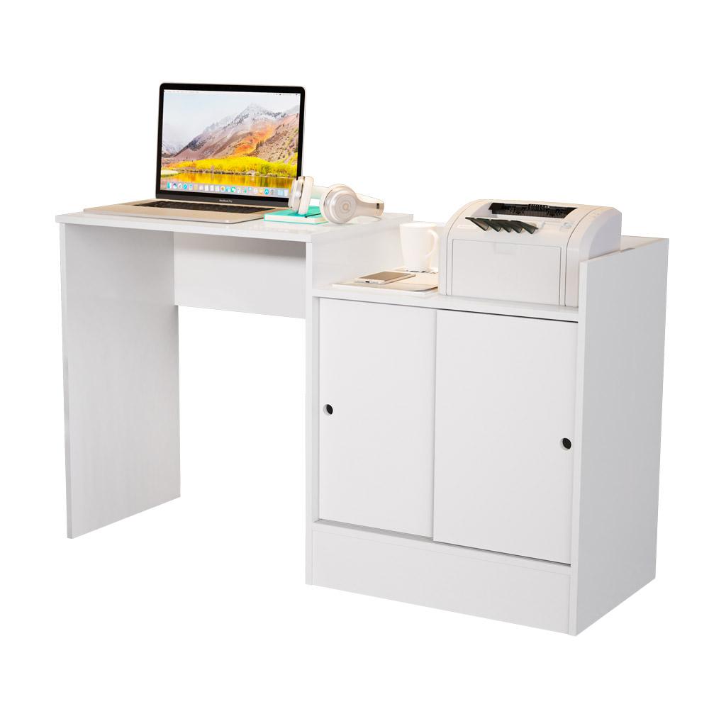Escrivaninha Quarto/Escritório Jb 6022 C/ 2 Portas de Correr - Branco - Jb Bechara