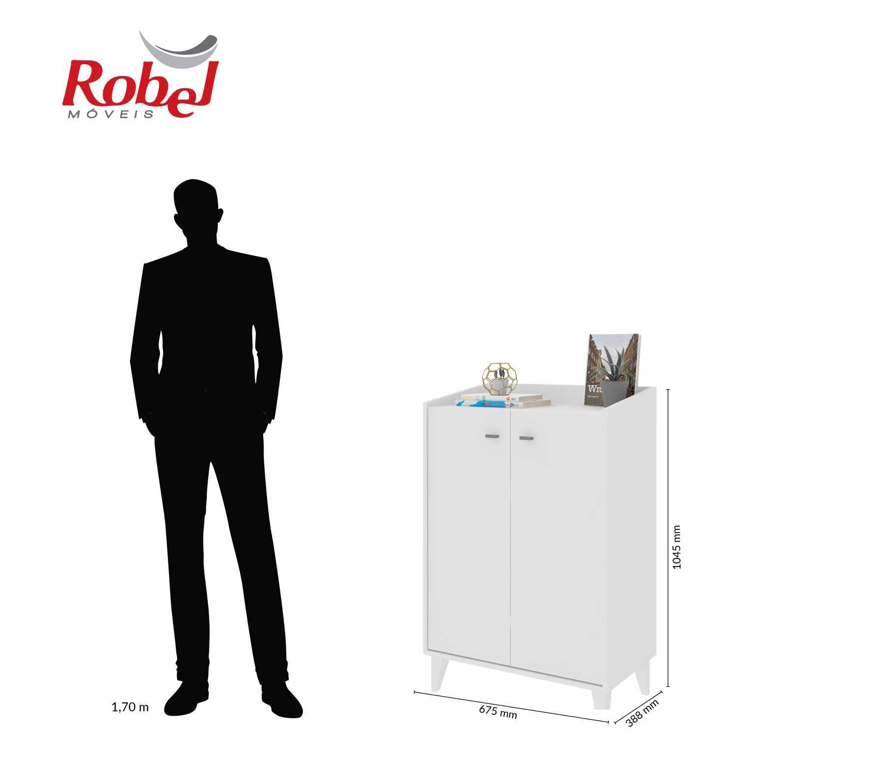 Armário Multiuso Branco Virtual Robel Móveis