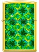 Isqueiro Zippo Leaf Pattern 2 - Dourado