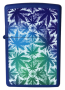 Isqueiro Zippo Leaves All Over - Azul
