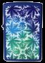 Isqueiro Zippo Leaves All Over - Azul
