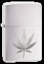Isqueiro Zippo marijuana Leaf - Prata