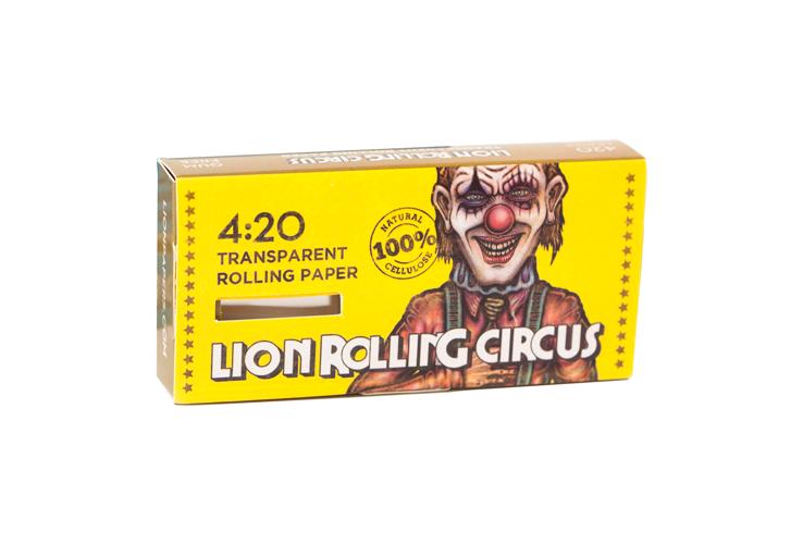 Celulose 420 Folhas - Lion Rolling Circus 1 1/4