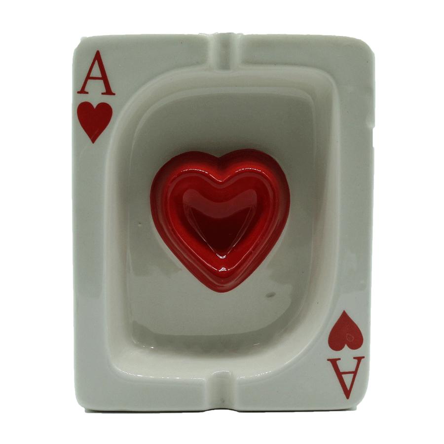 Cinzeiro de cerâmica carta baralho - Az de copas
