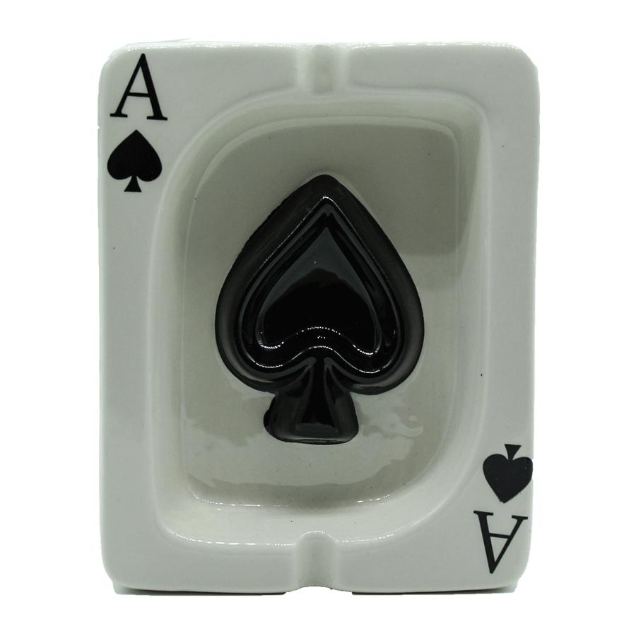 Cinzeiro de cerâmica carta baralho - Az de espadilha