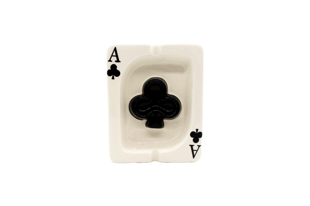 Cinzeiro de cerâmica carta baralho - Az de Paus