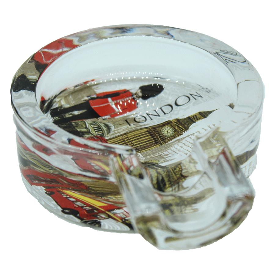 cinzeiro de vidro  p/charuto - london 2