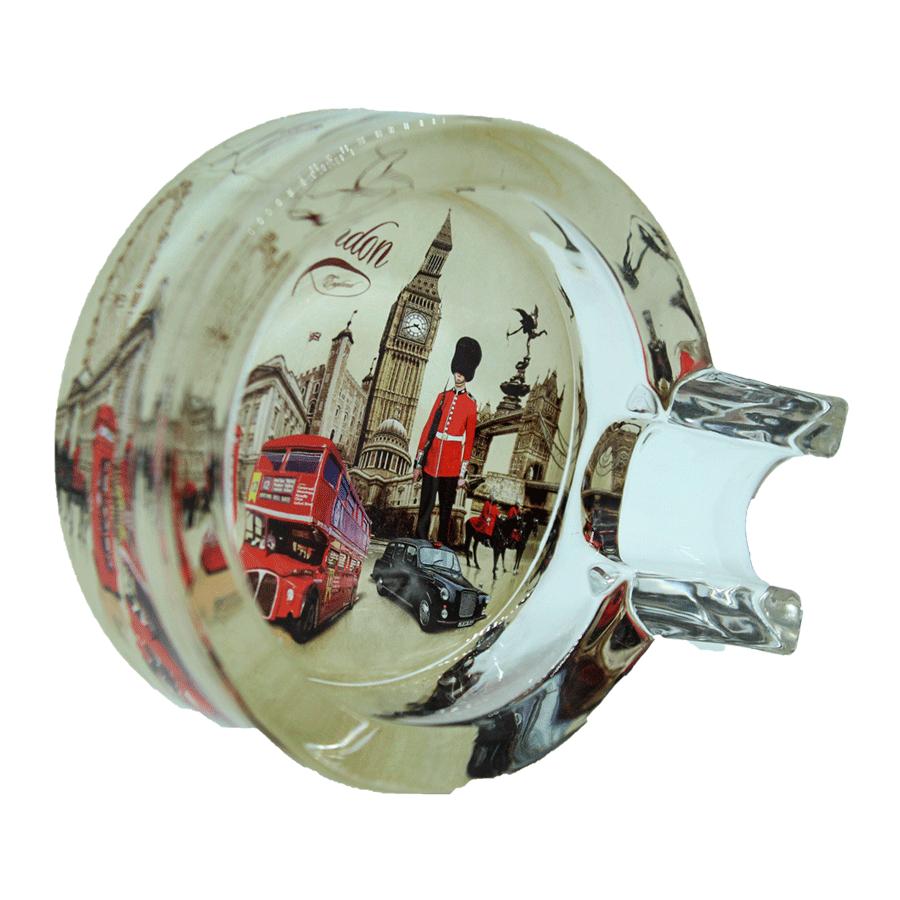 cinzeiro de vidro  p/charuto - london