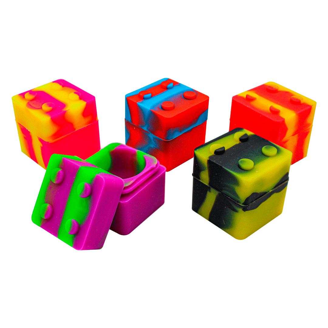 CONTAINER SILICONE QUADRADO LEGO 9ML