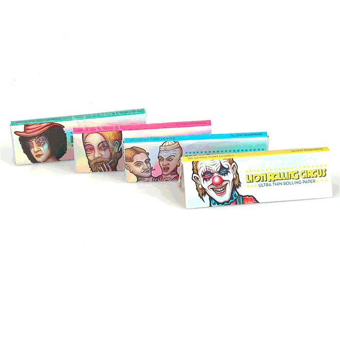 Seda Lion Rolling Circus Slim Ultra Fino 1 1/4 - Caixa com 25