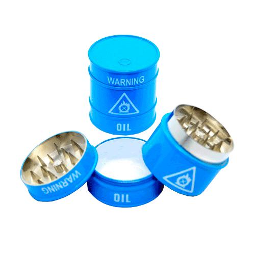 Dichavador de Metal Barril de Óleo - 3 partes