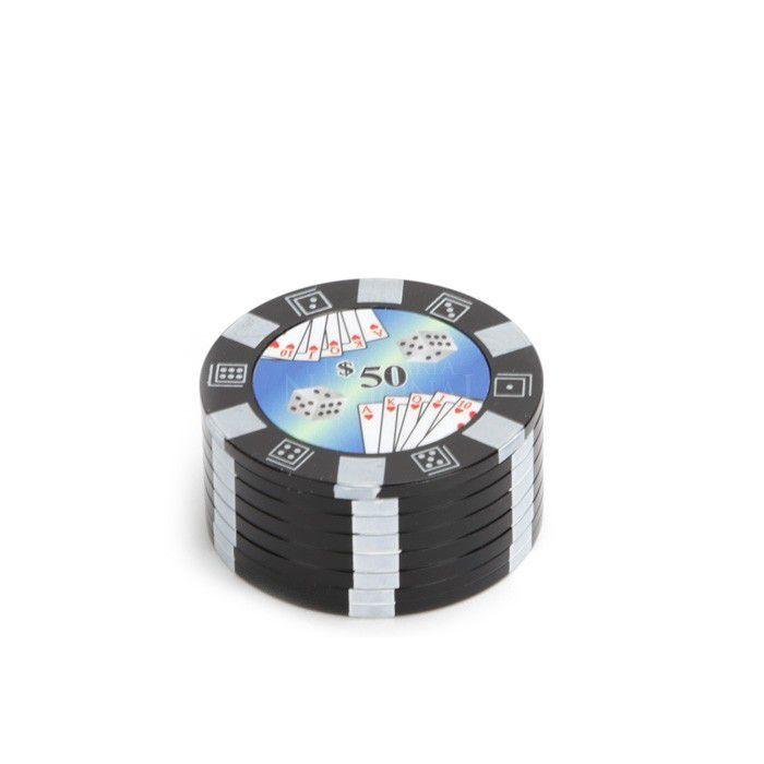 Dichavador de Metal Fixa Poker - 3 Partes