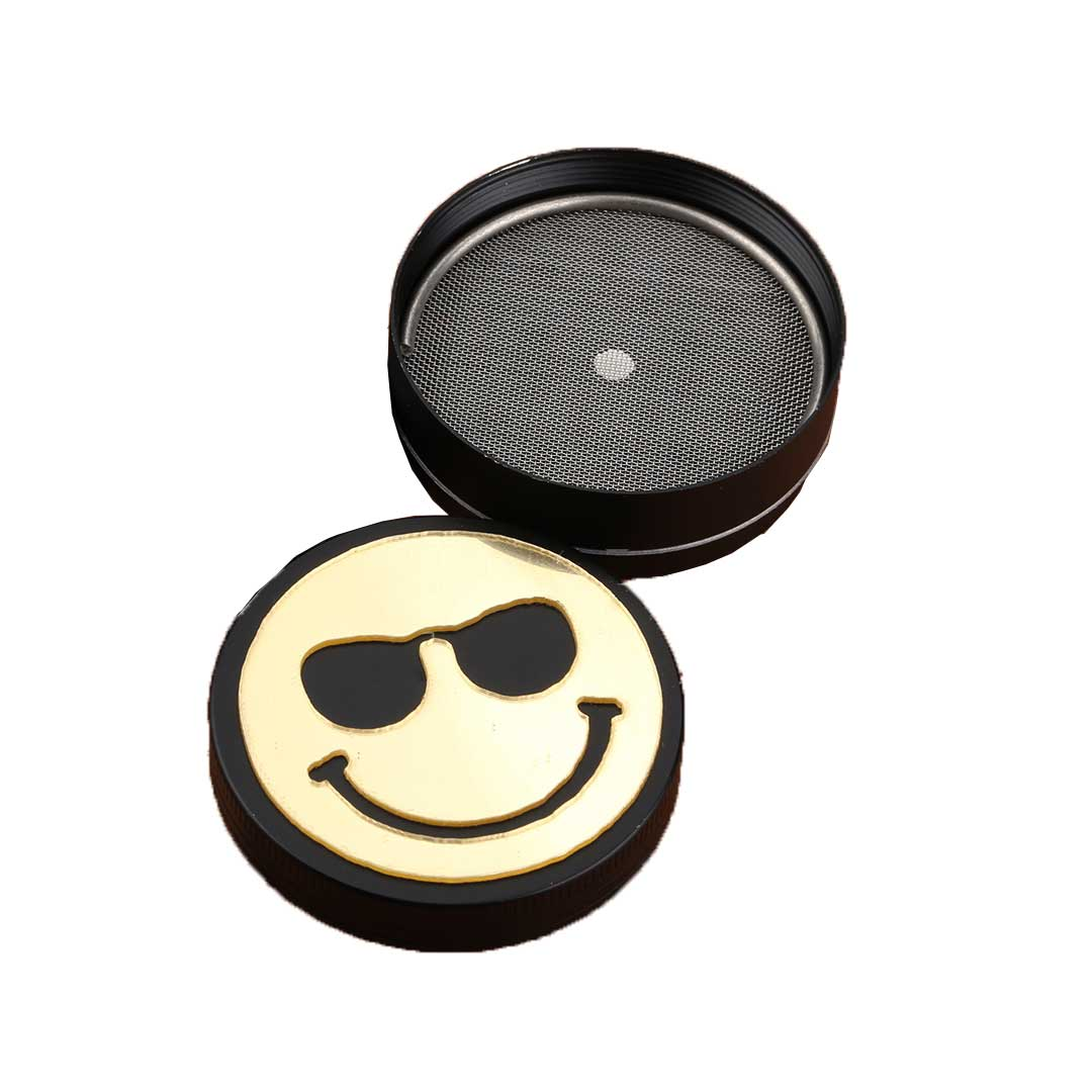 Dichavador de metal Smile c/óculos - 3 Partes