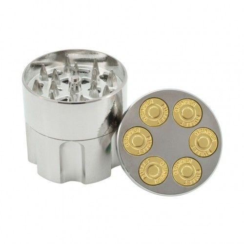 Dichavador de Metal Tambor de Revolver Pequeno - 3 Partes