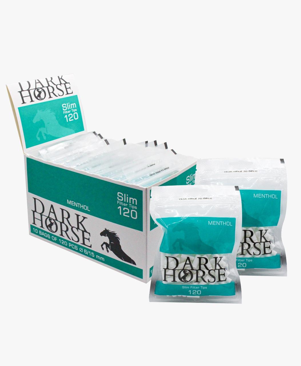 FILTRO ENROLAR DARK HORSE MENTHOL SLIM 6X15MM