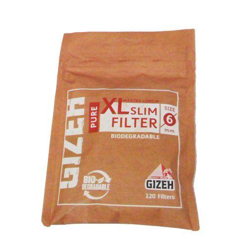 Filtro para Cigarro Gizeh XL Slim 6mm ( Pacote com 120)