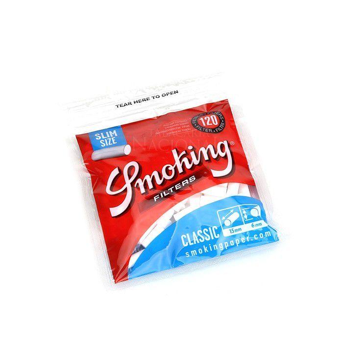 Filtro para Cigarro Smoking Slim de 6mm (Pacote com 120)