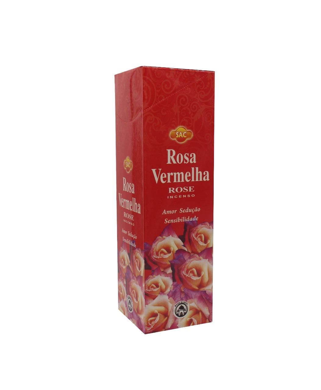 INCENSO SAC ROSA VERMELHA