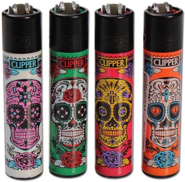 Isqueiro Clipper Caveira Mexicana