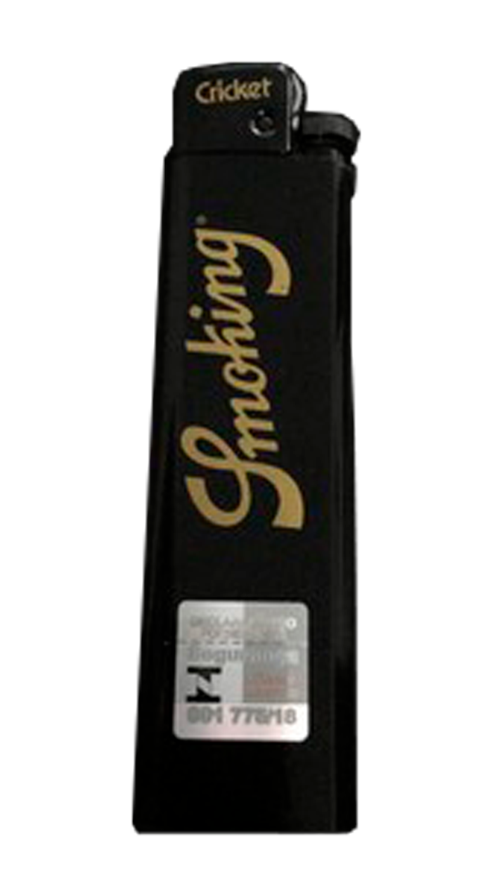 Isqueiro Cricket Smoking Grande - Preto