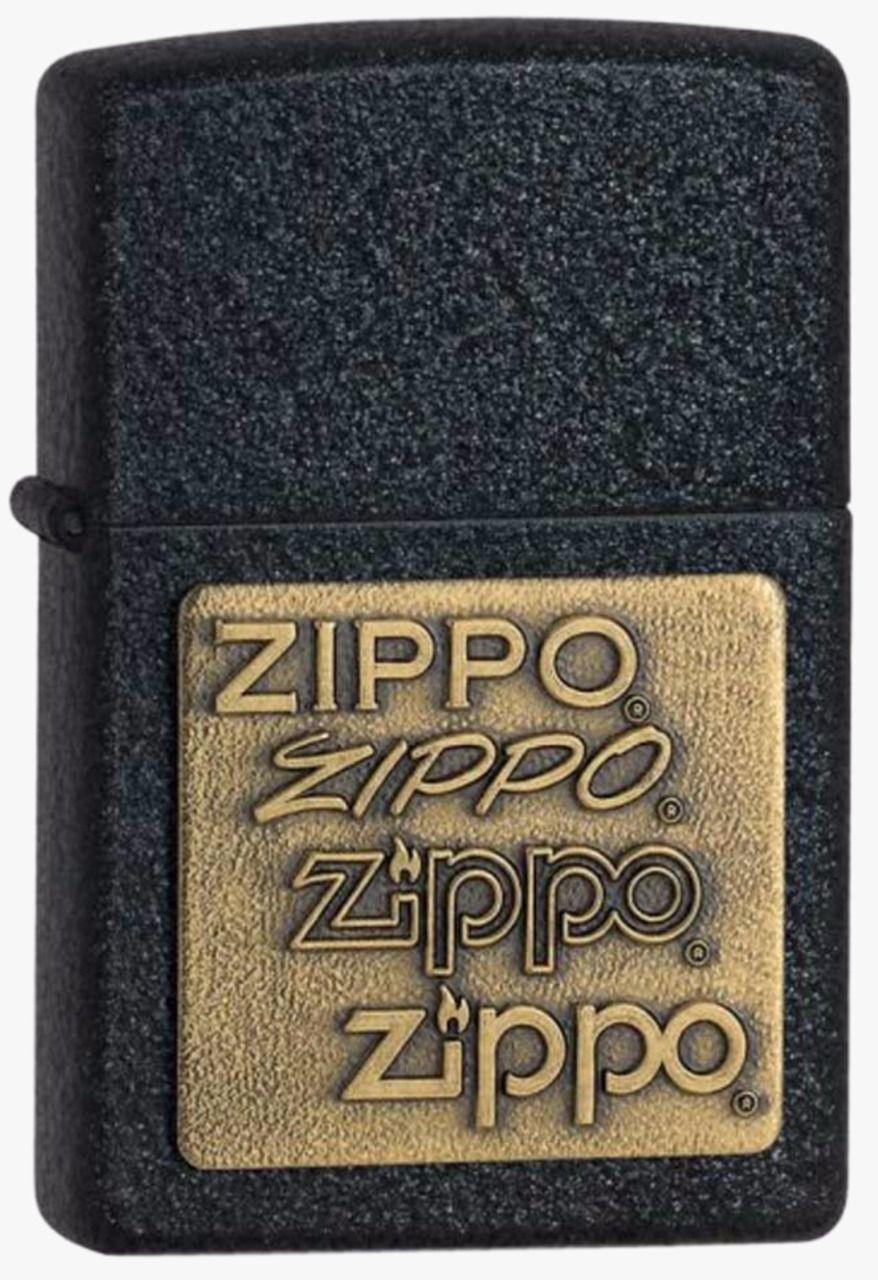Isqueiro Zippo Black Crackle Gold