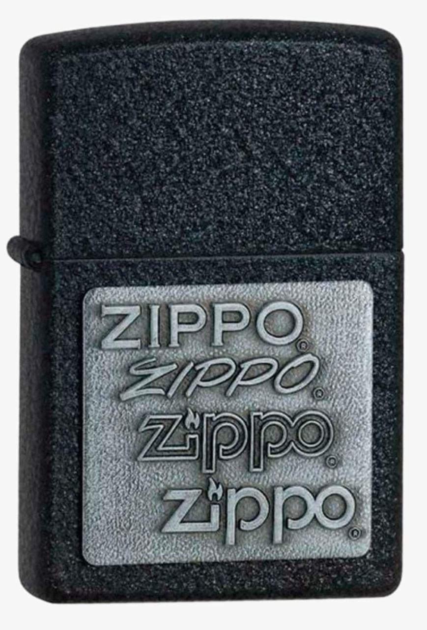 Isqueiro Zippo Black Crackle Silver