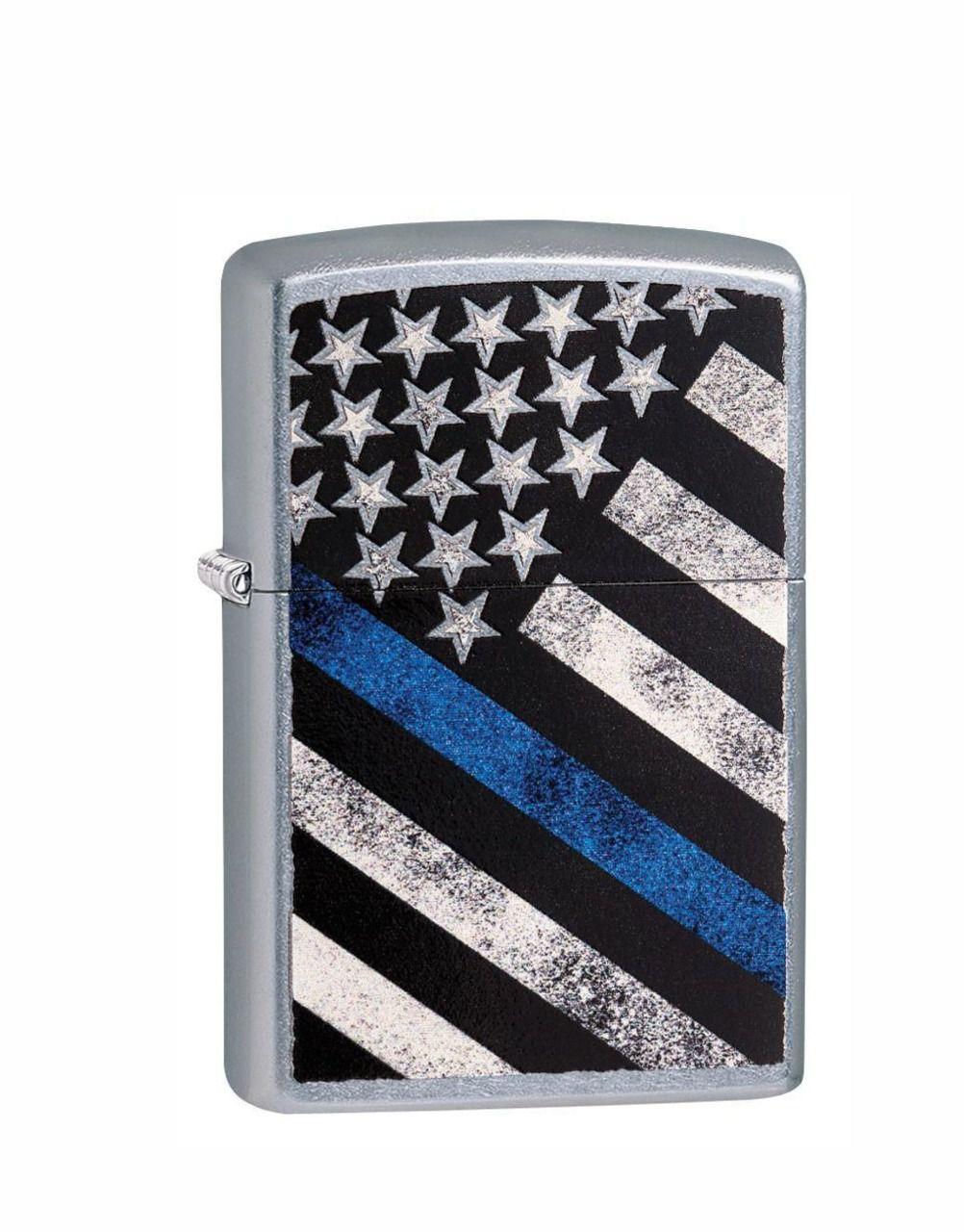 Isqueiro Zippo Classic Blue Line Flag