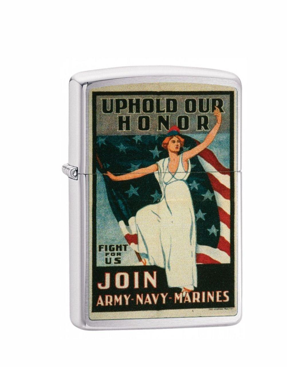 Isqueiro Zippo Classic U.S. Army Navy Marines