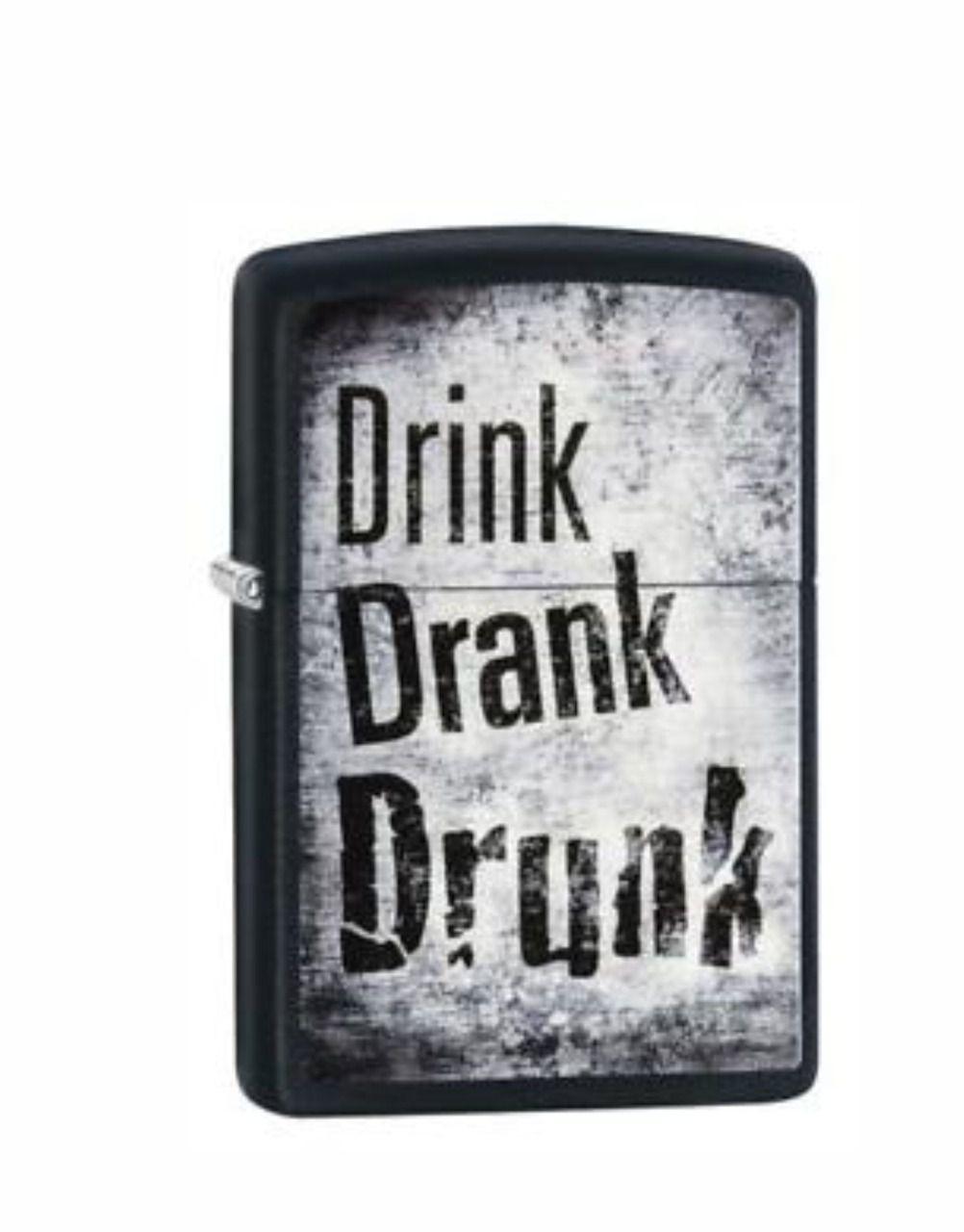 Isqueiro Zippo Drink Drank Drunk