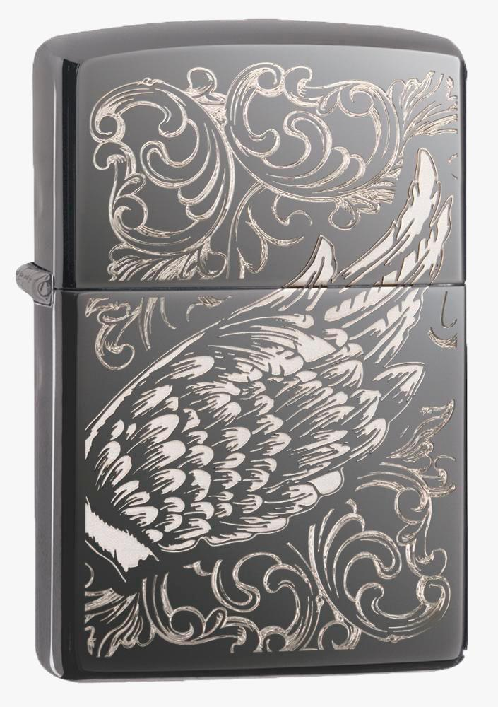 Isqueiro Zippo Filigree Flame And Wing Design
